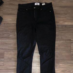 Paige frayed bottom black jeans size 28